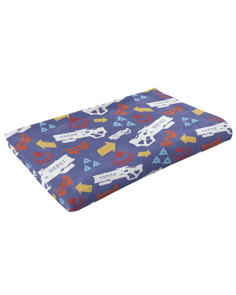 Soldier 76 Pattern Fluffy Micro Fleece Throw Blanket