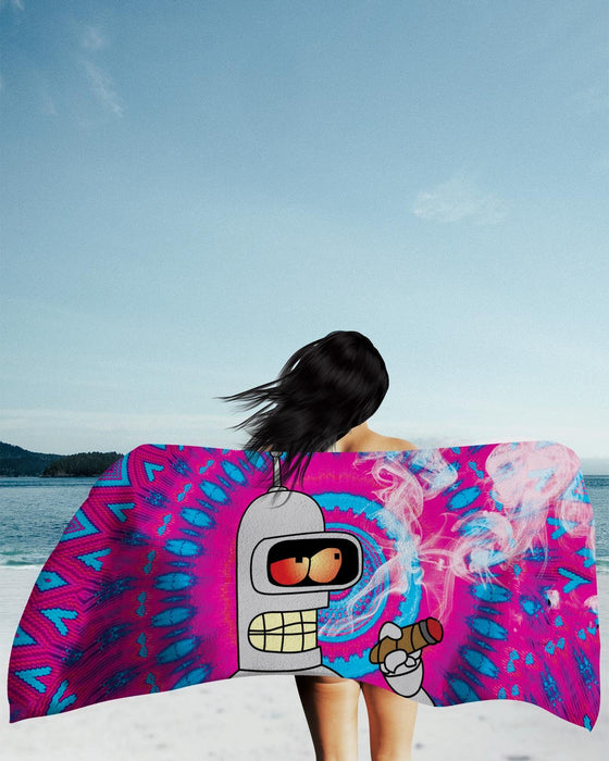 Blazin Bender Tye Dye Beach Towel