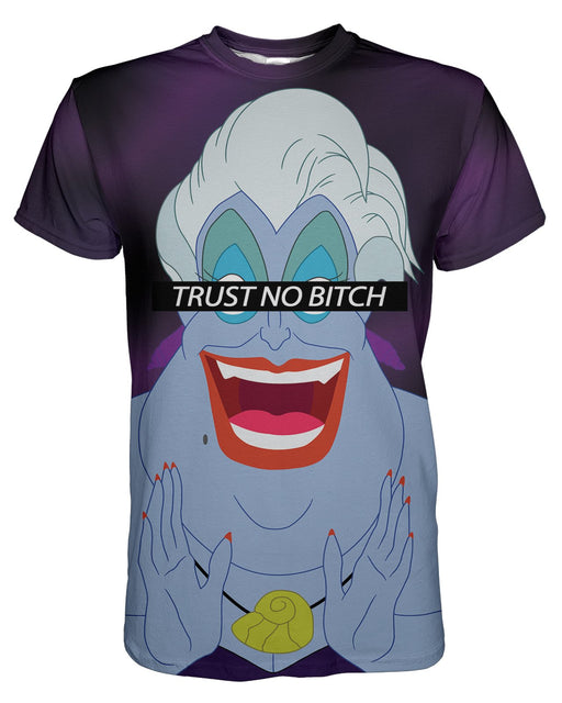 Trust No Bitch Ursula printed all over in HD on premium fabric. Handmade in California.