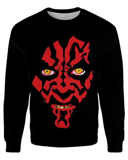 Darth Maul printed all over in HD on premium fabric. Handmade in California.