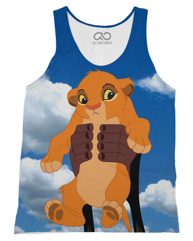 Baby Simba printed all over in HD on premium fabric. Handmade in California