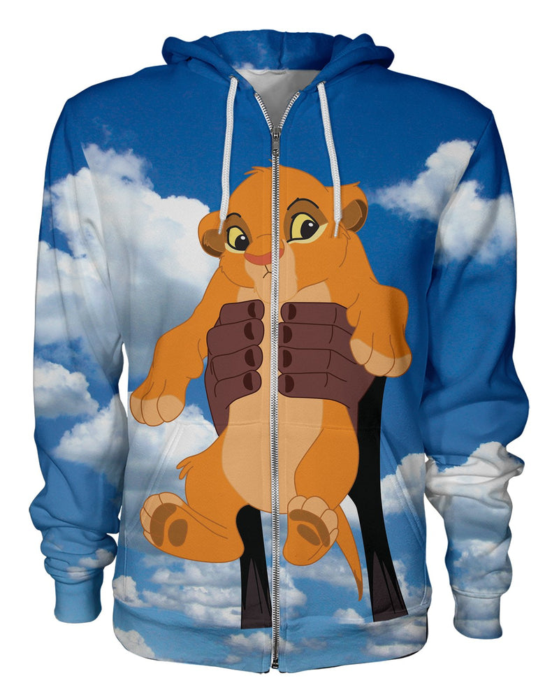 Baby Simba printed all over in HD on premium fabric. Handmade in California.