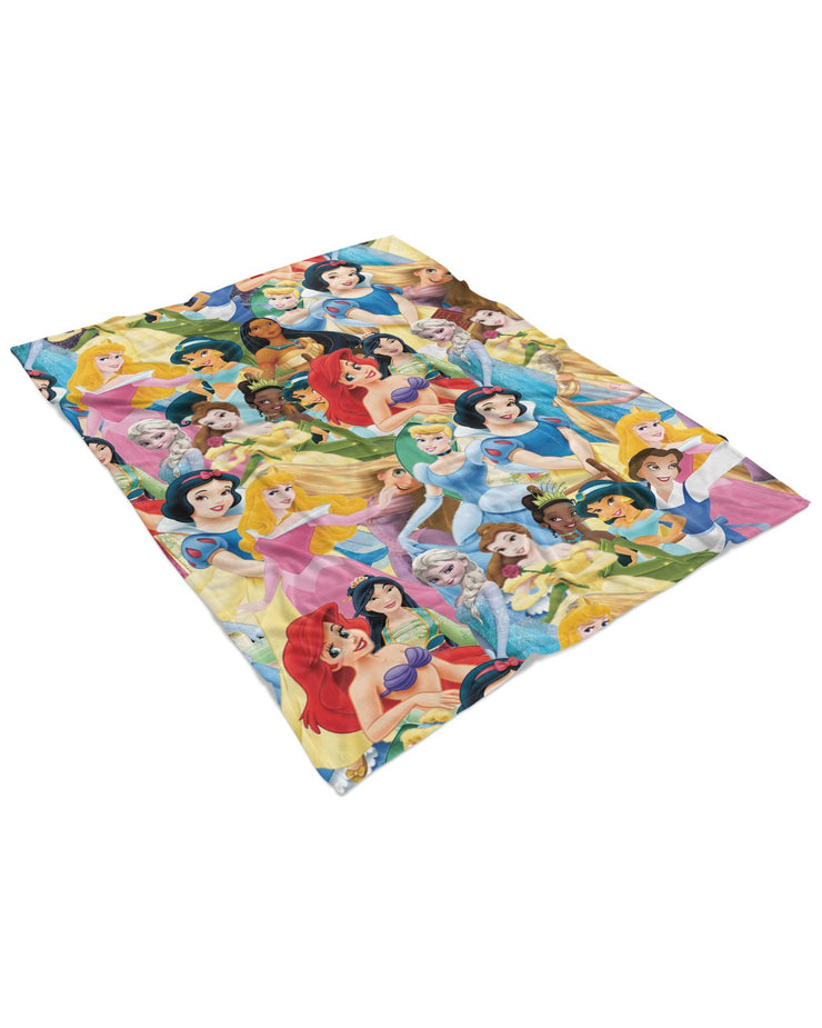 Disney Princesses Fluffy Micro Fleece Throw Blanket