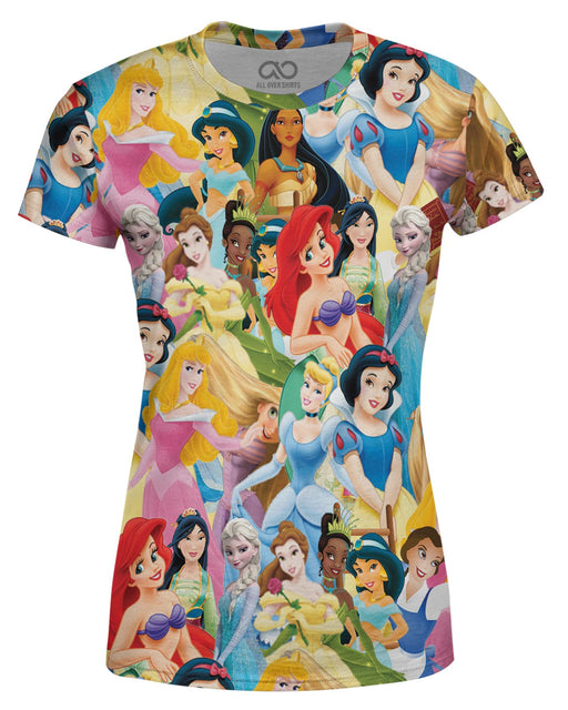Princesses printed all over in HD on premium fabric. Handmade in California.