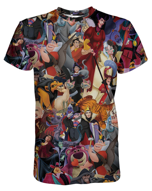 Disney Villians printed all over in HD on premium fabric. Handmade in California.