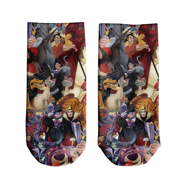 Evil Villains Ankle Socks
