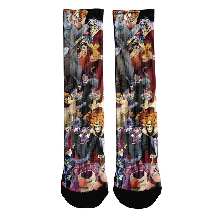 Evil Villains Crew Socks
