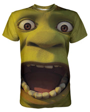Shrek printed all over in HD on premium fabric. Handmade in California.