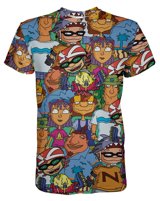 Rocket Power printed all over in HD on premium fabric. Handmade in California.