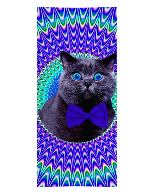 Crazy Cat Beach Towel