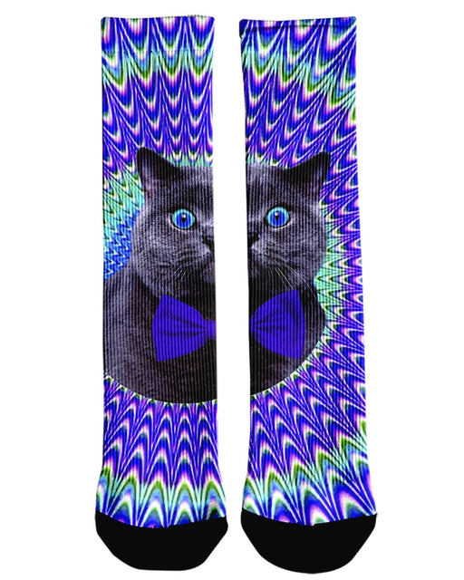 Crazy Cat Crew Socks