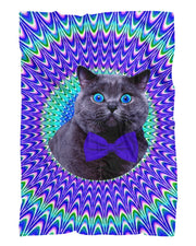 Crazy Cat Fluffy Micro Fleece Throw Blanket