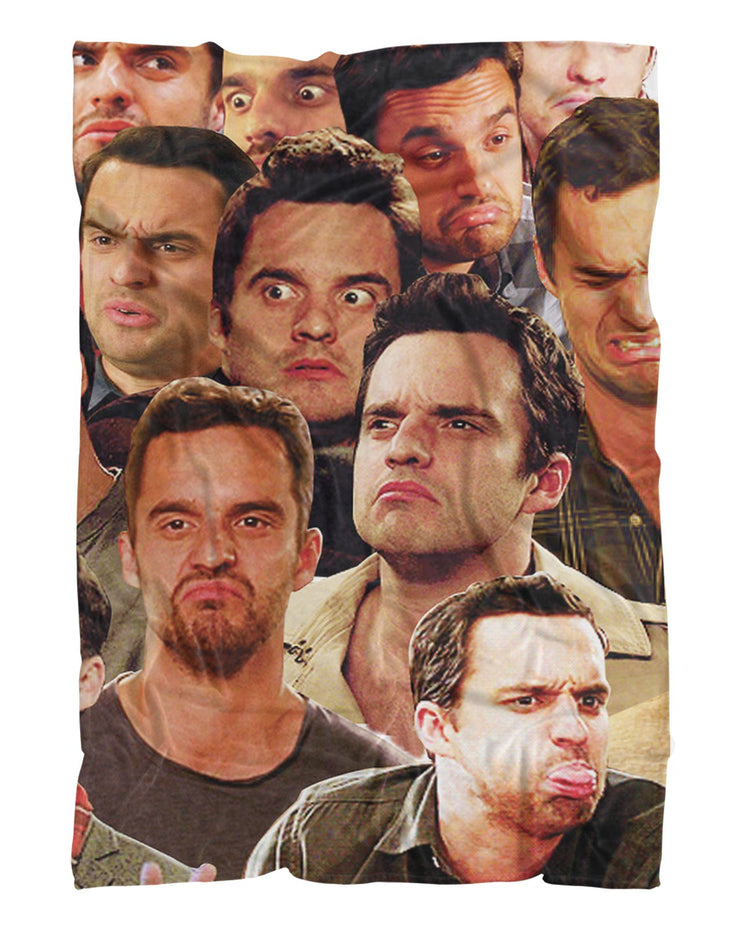 Nick Miller Fluffy Micro Fleece Throw Blanket