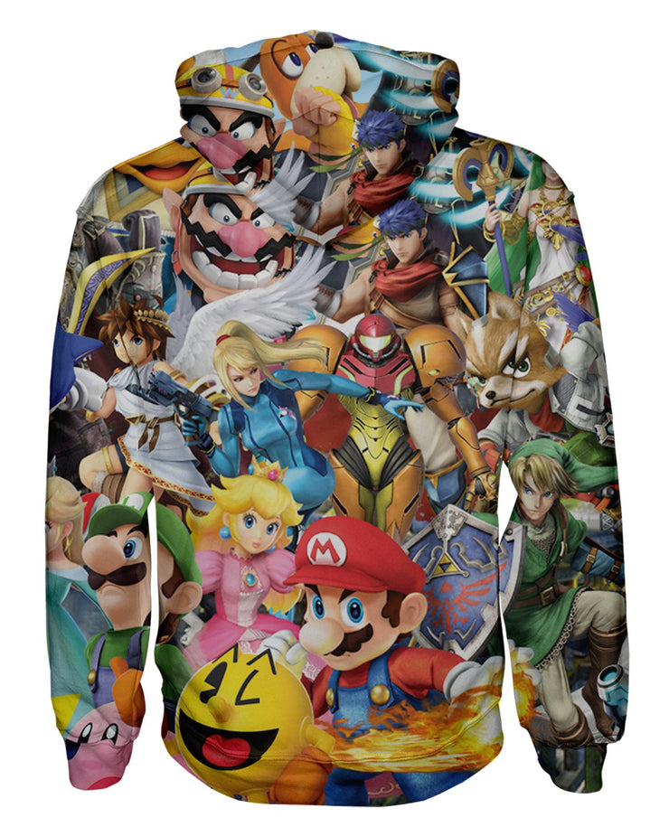Super Smash Bros Ultimate Pullover Hoodie