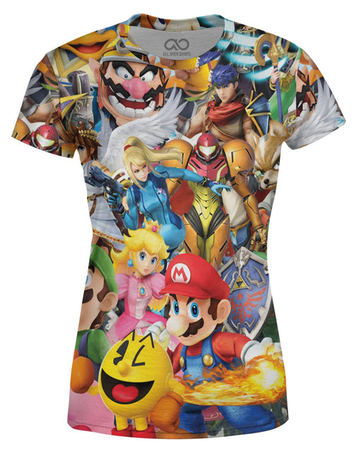 Super Smash Bros Brawl printed all over in HD on premium fabric. Handmade in California.