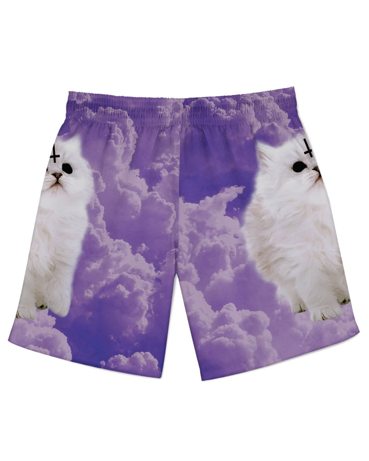 Satan Cat Athletic Shorts