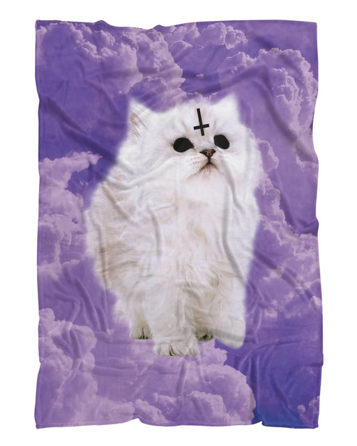 Satan Cat Fluffy Blanket