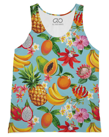 Tropical Fruit printed all over in HD on premium fabric. Handmade in California.