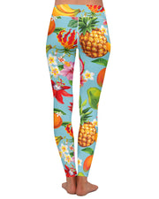 Tropical Fruit Yoga Leggings