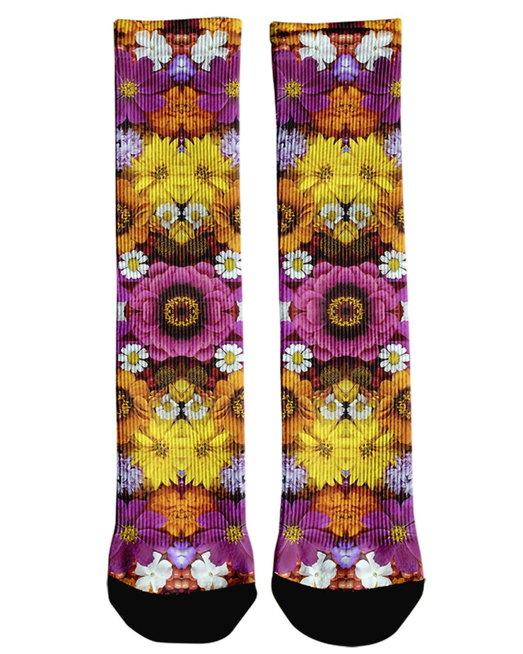 Flower Fractal Crew Socks