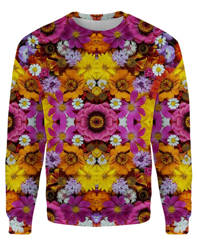 Flower Fractal printed all over in HD on premium fabric. Handmade in California