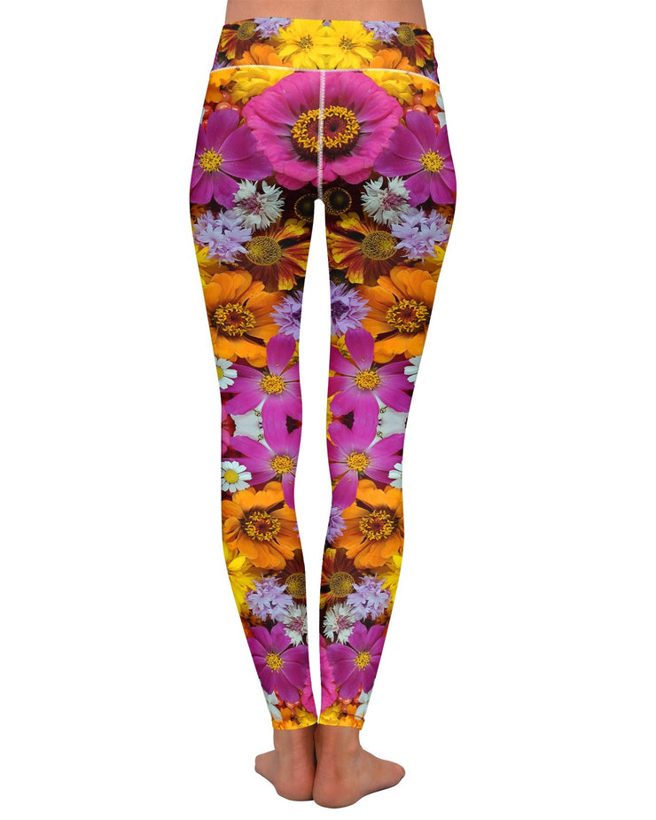 Flower Fractal Yoga Leggings