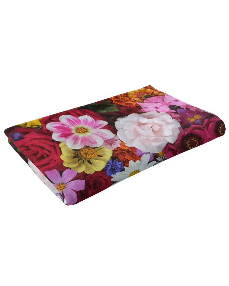Flower Fractal 2 Fluffy Micro Fleece Throw Blanket