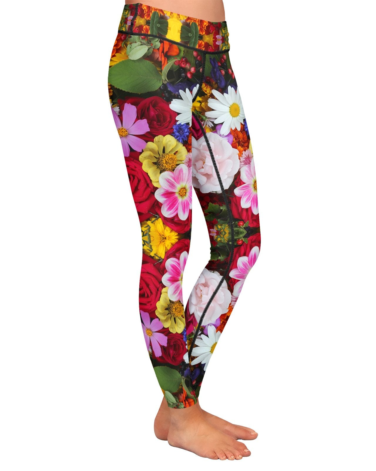 Flower Fractal 2 Yoga Leggings