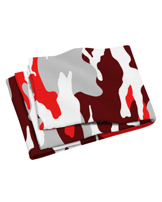Los Angeles Camo Red Beach Towel