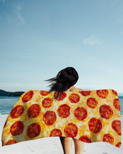Pepperoni Pizza Beach Towel