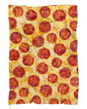 Pepperoni Pizza Fluffy Micro Fleece Throw Blanket