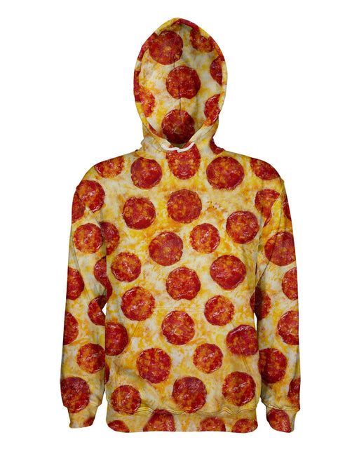 Pepperoni Pizza printed all over in HD on premium fabric. Handmade in California.