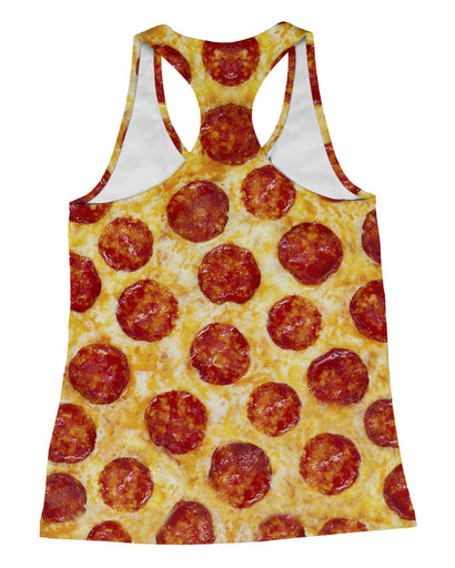 Pepperoni Pizza Racerback Tank