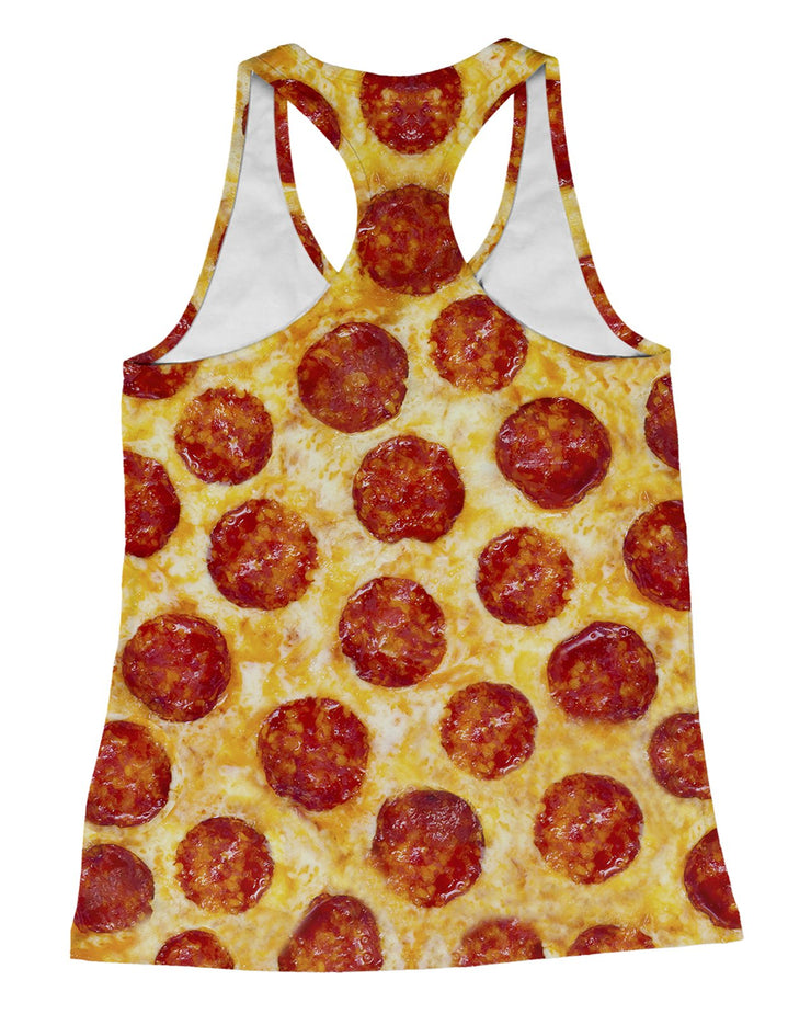 Pepperoni Pizza Racerback-Tank