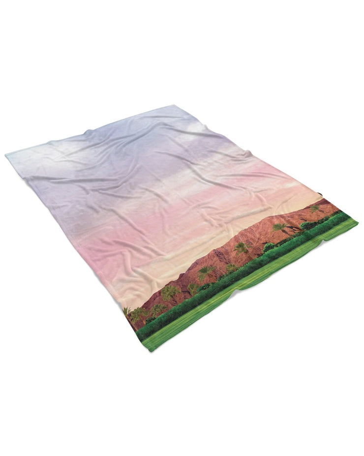 Coachella Field Fluffy Micro Fleece Throw Blanket