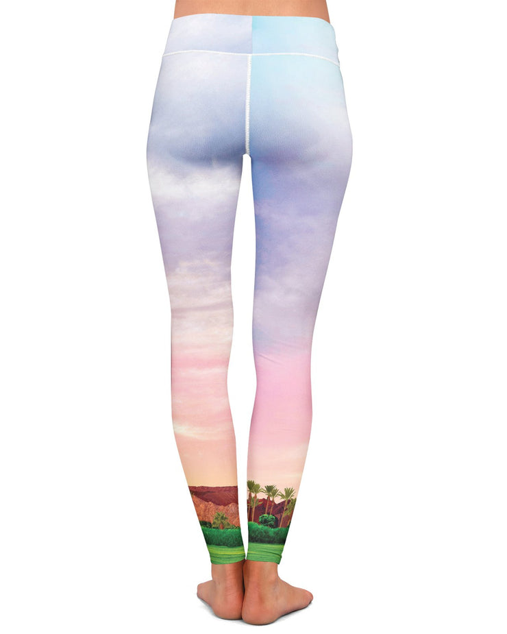 Coachella Field Yoga Leggings