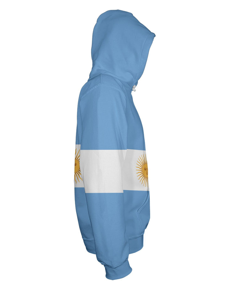 Argentina Flag Pullover Hoodie