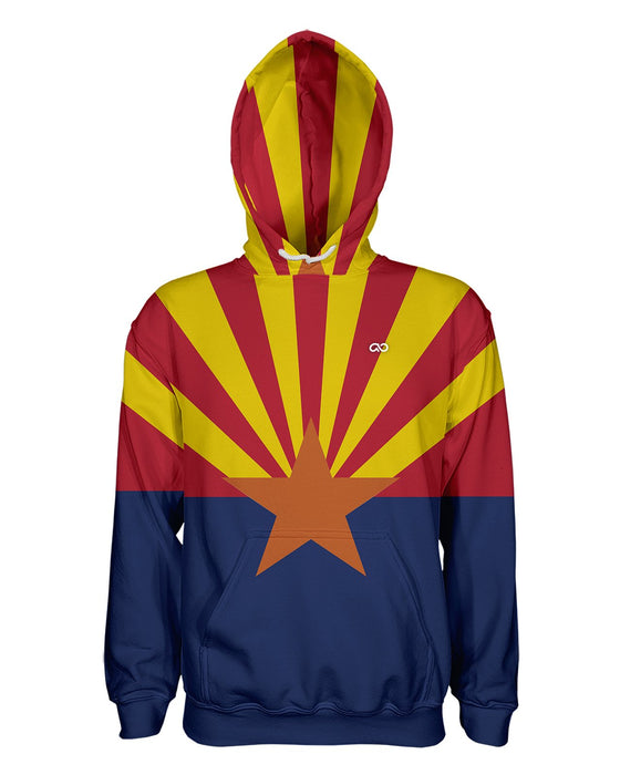 Arizona Flag printed all over in HD on premium fabric. Handmade in California.
