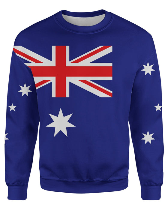 Austraila Flag printed all over in HD on premium fabric. Handmade in California.