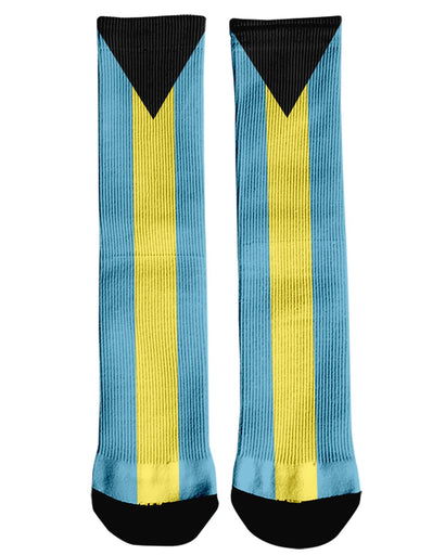 Bahamas Flag printed all over in HD on premium fabric. Handmade in California.