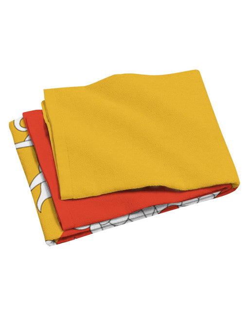 Bhutan Flag Beach Towel
