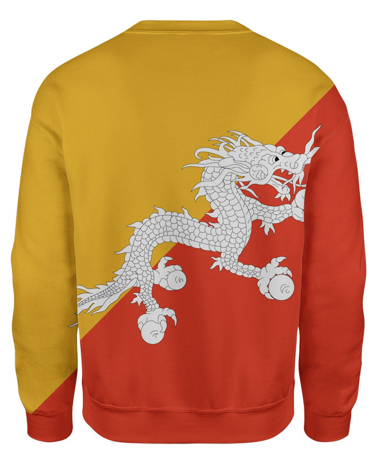 Bhutan Flag Sweatshirt