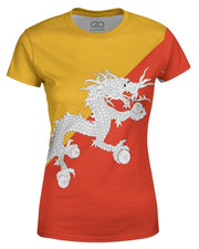 Bhutan Flag Women's T-shirt
