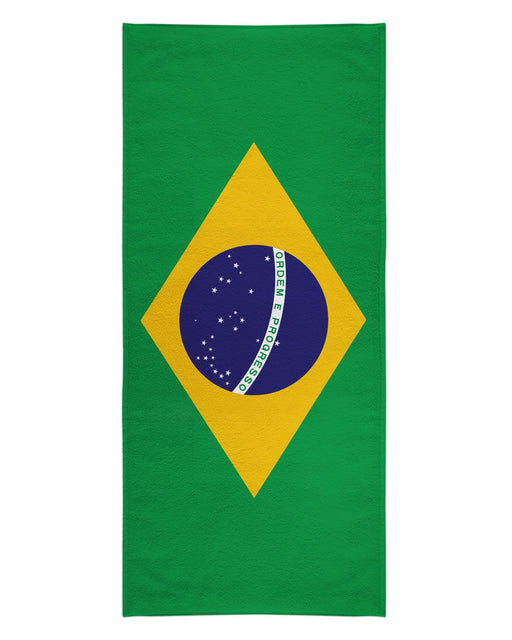 Brazil Flag printed all over in HD on premium fabric. Handmade in California.