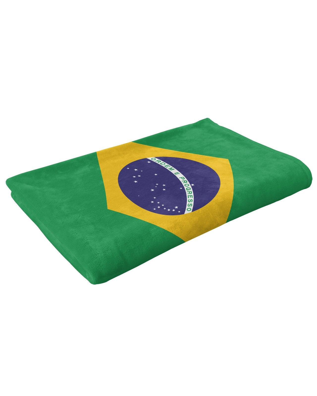 Brazil Flag Fluffy Micro Fleece Throw Blanket