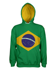 Brazil Flag Pullover Hoodie