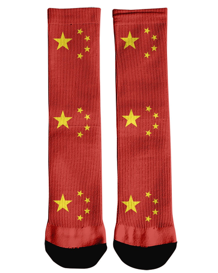 China Flag Crew Socks