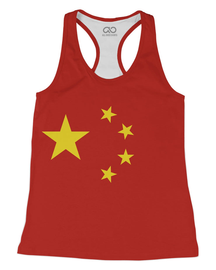 China Flag Racerback-Tank