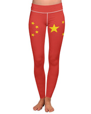 China Flag Yoga Leggings