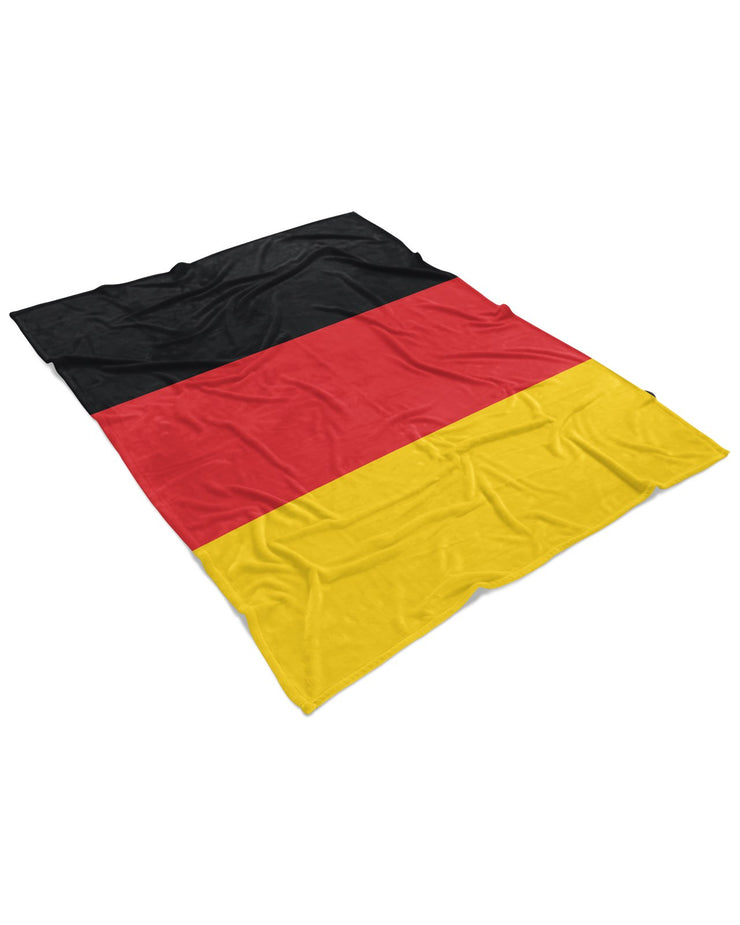Germany Flag Fluffy Micro Fleece Throw Blanket